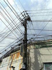 electric wire pole photowalk yokohama photowalking 電信柱 zooomr 弘明寺 tekupachi テクパチ photowalk:yokohama=20090328