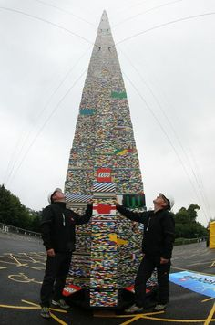 The Ultimate LEGO Tower World Record Build on 6th July 2012. It reached a staggering 32m 16cm