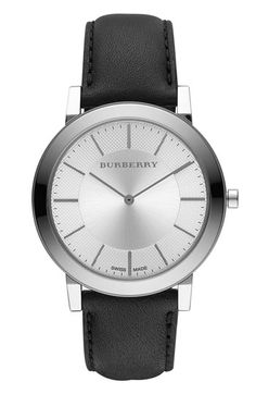 Burberry Timepieces Slim Leather Strap Watch | Nordstrom...good Father of the Bride gift