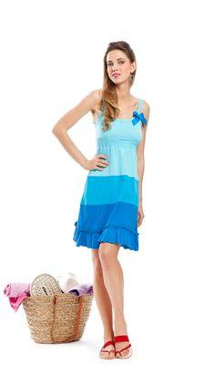 noidìnotte  Collezione Spring/Summer 2012  € 14,90  ABITINO DONNA BRIGITTE BRETELLINA COTONE   #pigiama #easywear #look