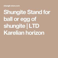 Shungite Stand for ball or egg of shungite | LTD Karelian horizon