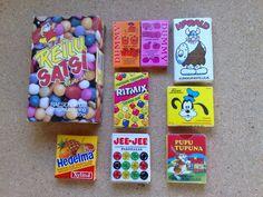Pupuleipomo: Kaupoista kadonneet herkut Good Old Times, 90s Toys, Those Were The Days, Toy Boxes, Childhood Memories, Retro Vintage, Nostalgia, Sweets, Candy