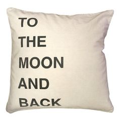 To the Moon and Back Pillow Easy to make!