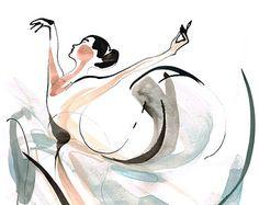 Desenho Dança Ballet Impressão