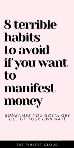OMG law of attraction manifesting money is easy but bad habits can keep the secret law of attraction manifesting formula from working in your life. Manifest money overnight and manifest abundance with. Spiritual Manifestation, Manifestation Journal, Manifestation Law Of Attraction, Law Of Attraction Affirmations, Spiritual Awakening, Spiritual Meditation, Meditation Quotes, Law Of Attraction Planner, Law Of Attraction Money