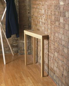 Solid oak console table gone askew! By Richard Shed. - I am sure pauly can make me one for the front door!