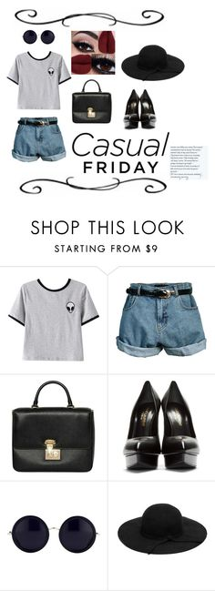 """Casual Friday"" by mary03l on Polyvore featuring Chicnova Fashion, Retrò, Dolce&Gabbana, Yves Saint Laurent and The Row"