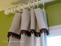 Drop Cloth Curtain