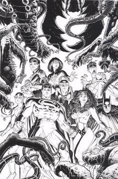 JLA: Monstros assustadores # 1 capa