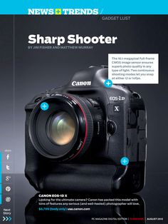 We've got major gadget lust for the Canon EOS-1D X.