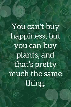 """You can't buy happiness, but you can buy plants, and that's pretty much the sam… - Landscaping Landscaping Company, Front Yard Landscaping, Landscaping Shrubs, Landscaping Design, Gardening Supplies, Gardening Tips, Organic Weed Control, Plants Quotes, Low Maintenance Landscaping"