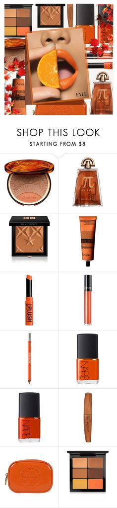 """""""Fall Beauty"""" by rasa-j ❤ liked on Polyvore featuring beauty, Clarins, Givenchy, Aesop, NYX, Lancôme, Urban Decay, NARS Cosmetics, Rimmel and Tory Burch"""