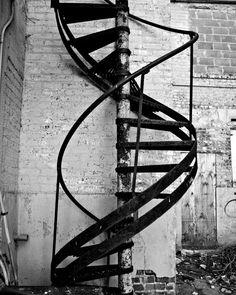spiral staircase, photograph