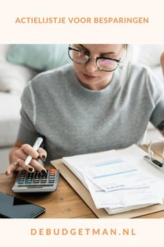 Actielijstje voor besparingen #geld #geldbesparen #DeBudgetman Blog, Earn Money, Blogging