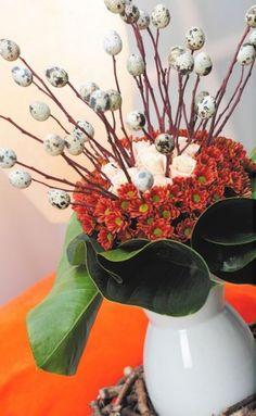 blumenstrau osterdeko ideen f r osterdekoration lila blumen wohnideen inspirationen. Black Bedroom Furniture Sets. Home Design Ideas