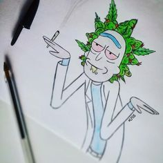 It s time to get schwifty Des fans de Rick 038 Psychedelic Drawings, Trippy Drawings, Cool Drawings, Rick And Morty Drawing, Rick And Morty Tattoo, Ricky Y Morty, Rick Und Morty, Simpsons Drawings, Drugs Art