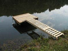 River stairs with cantilever dock river cabin dreams for Movable floating deck