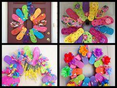 diy flip flops | DIY Flip Flop Wreath