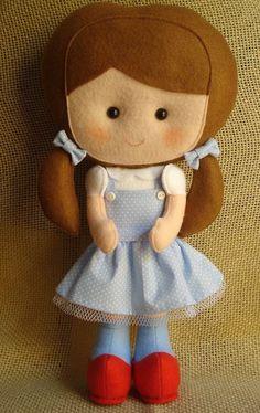 Boneca Dorothy com molde