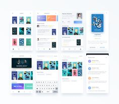 """Enjoy the latest UI Kits that make web a better place. """"UI Kits Inspiration is published by Premiumuikits in Muzli - Design Inspiration. Mobile Ui Design, App Ui Design, Interface Design, Book Library App, Tablet Apps, Android Design, App Design Inspiration, Mobile App Ui, Music App"""