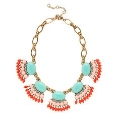 J.Crew Fan fringe necklace