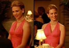 Betty Draper is a stunning pink dress