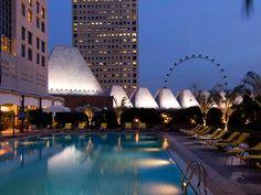 Conrad Centennial Singapore pool view, partner of Belberry Preserves