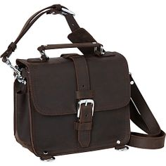 "#MensBags, #MessengerBags - Vagabond Traveler 11"" Leather Camera/Tablet Bag Dark Brown - Vagabond Traveler Men's Bags"