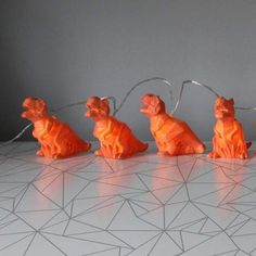 House of Disaster Orange T-Rex origami LED string lights. These lovely dinosaur string light are great for any little boys room who is crazy about dinosuars. Scented Wax Melts, Arm Party, Led String Lights, White Glitter, T Rex, Fairy Lights, Scented Candles, Cute Gifts, Little Boys