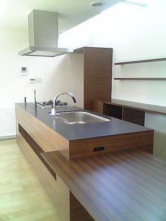 kitchen - wooden finish