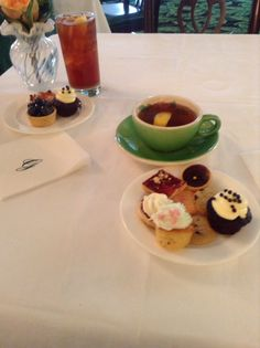 Yummy desserts at the greenbrier in wv