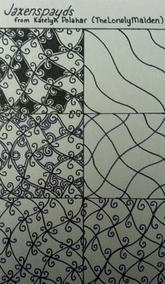Filling Tangle ~ Jaxenspayds ~ by Kate Polahar (aka TheLonelyMaiden) Tangle Art, Tangle Doodle, Zen Doodle, Doodle Art, Doodle Patterns, Zentangle Patterns, Doodle Drawings, Zentangle Drawings, Doodles Zentangles