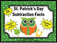 St. Patricks Day Subtraction Math Facts Task Cards Scavenger Hunt Game from Promoting Success on TeachersNotebook.com -  (12 pages)  - St. Patrick's Day: Here are 30 fun St. Patrick's Day math subtraction facts task cards for elementary students. Students will practice subtraction facts up to 20.  You will also receive a student response form and answer key.   There are so many