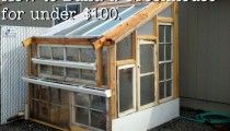 Greenhouse made from old windows...LOVE!!!
