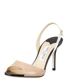 Vela Colorblock Slingback Sandal by Jimmy Choo at Bergdorf Goodman.