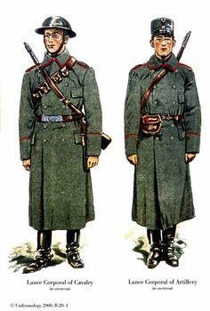 Esercito Norvegese, 1939 - Caporalmaggiore di Cavalleria, Caporalmaggiore di Artiglieria