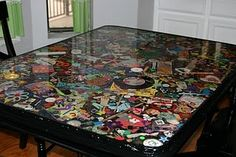 Resin I Spy table... how cool for a playroom