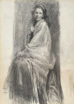 PORTRAIT OF A YOUNG GIRL by Sir William Orpen RA RHA