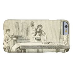 Cool Vintage Printer iPhone 6 Case. Artwork designed by http://www.zazzle.com/cuteiphone6cases* #slimiphone6case #best #cool #amazing #iphone #6 #cases #case #awesome #personalized #personalize #customizable #customize #add #photo #text