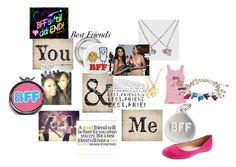 """best friends for ever"" by tabitha-escoe ❤ liked on Polyvore featuring Helen Ficalora and tabithaescoeyahoo.com"