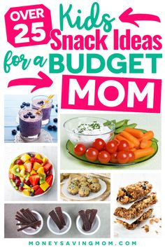 The kids may be wanting snacks all day long while home for the summer! Here are 25 Budget-Friendly Snack ideas for kids that won't break the bank! #snacks #snackideas #snackideasforkids #cheapsnacks #Budgetmom
