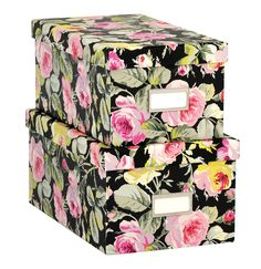 Anna Griffin Nesting Boxes in Grace Black Collection -- Set of 2 Boxes