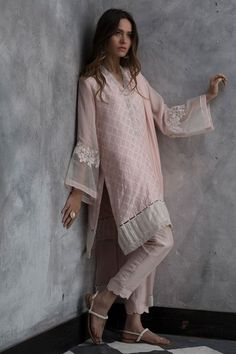 Treat yourself to the most luxurious designs and fabrics with Nida Azwer Luxury pret collection. Pakistani Fashion Casual, Pakistani Dresses Casual, Pakistani Dress Design, Indian Dresses, Indian Outfits, Indian Fashion, Frock Fashion, Fashion Dresses, Women's Fashion