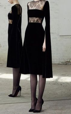 // Alex Perry Kirby Lace And Velvet Dress - Annabel Perfect Outfits Mode Chic, Mode Style, Trendy Dresses, Fashion Dresses, High Fashion, Fashion Tips, Fashion Design, Classy Fashion, Petite Fashion