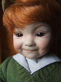 "Dianna Effner Snips Snails 15"" Doll Red Hair Brown Eyes Ashton Drake Knowles1992"