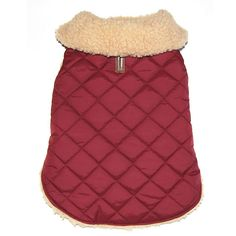 Quilted Dog Coat with Shearling Lining   The Company Store
