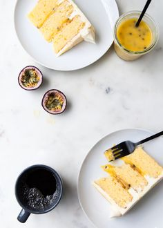 passion fruit layer cake +passion fruit curd filling + coconut and cream cheese frosting Cupcakes, Cupcake Cakes, Cupcake Recipes, Dessert Recipes, Desserts, Passion Fruit Cake, How Sweet Eats, Relleno, Let Them Eat Cake