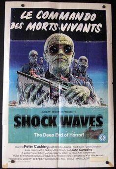 Shock Waves - Vintage Horror Movie Poster - original. .