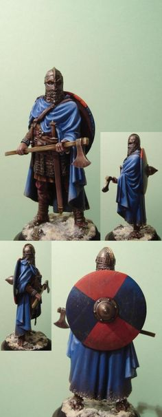 Another Saxon warrior.  I do like the snow on his cloak here