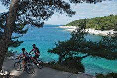 Croatia, Mali Lošinj, biking
